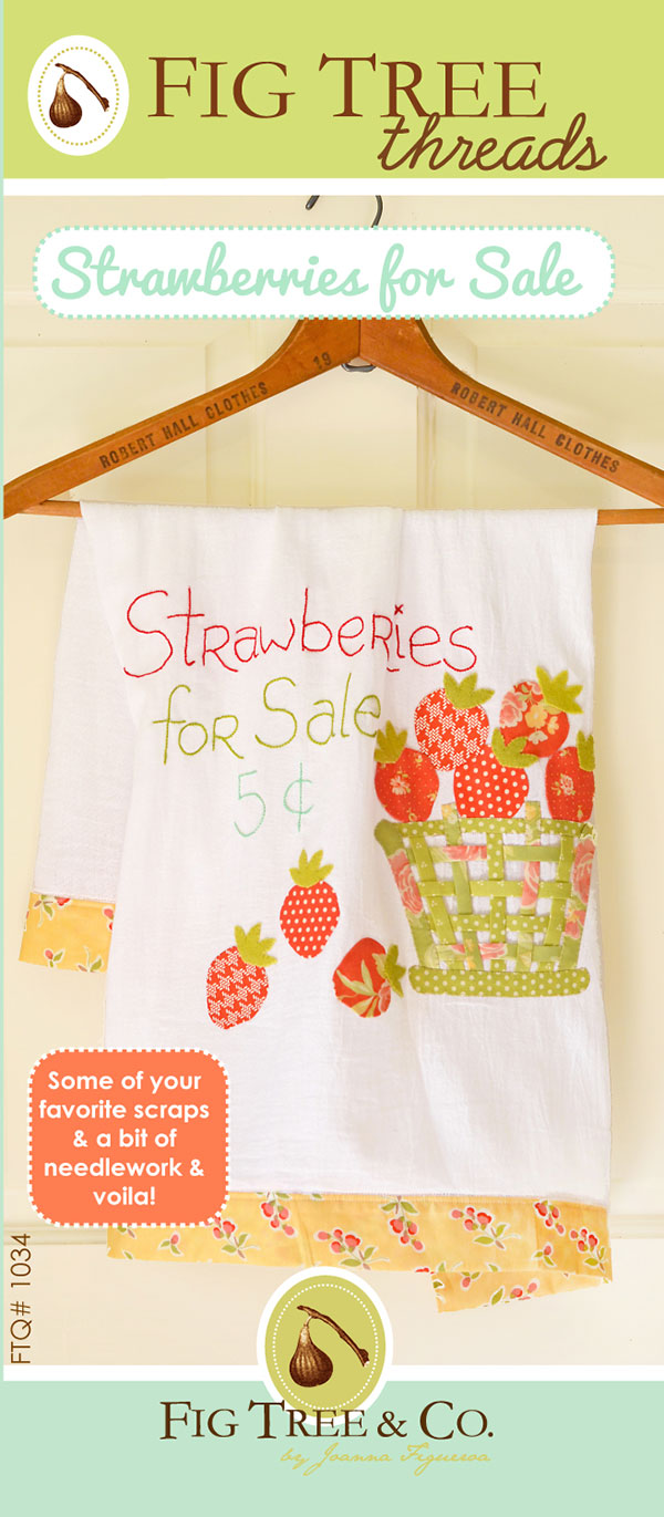 Strawberries For Sale Applique Pattern