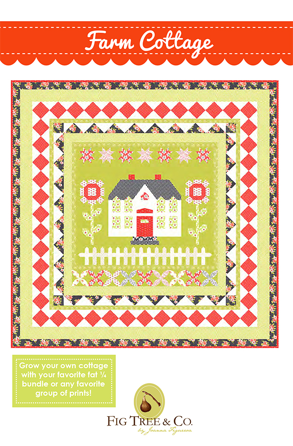 Farm Cottage Quilt Pattern by Fig Tree Quilts