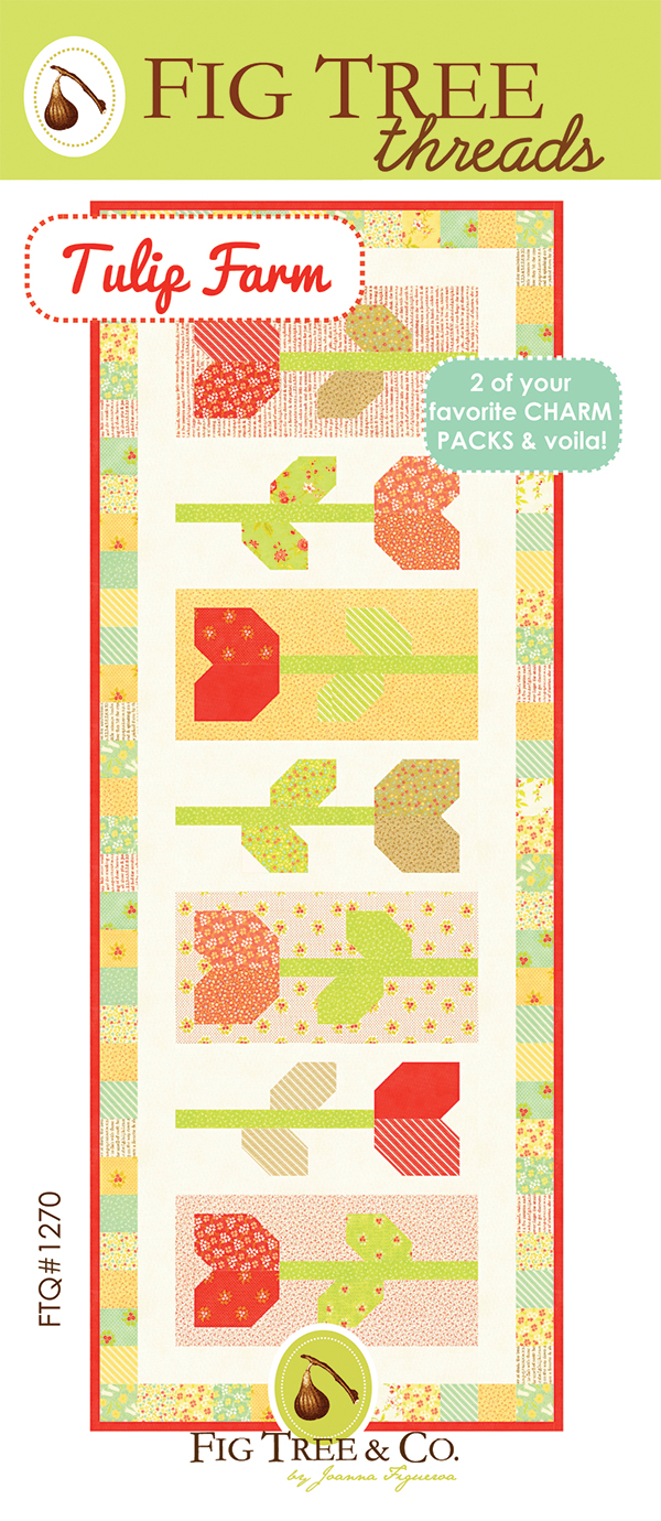 Tulip Farm Table Runner Pattern by Fig Tree