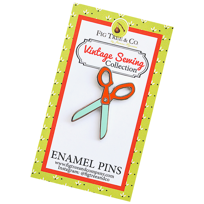 Retro Scissors Enamel Pin