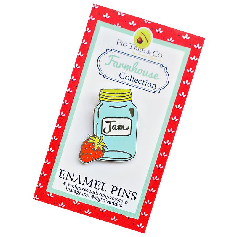 Enamel Pins Mason Jar