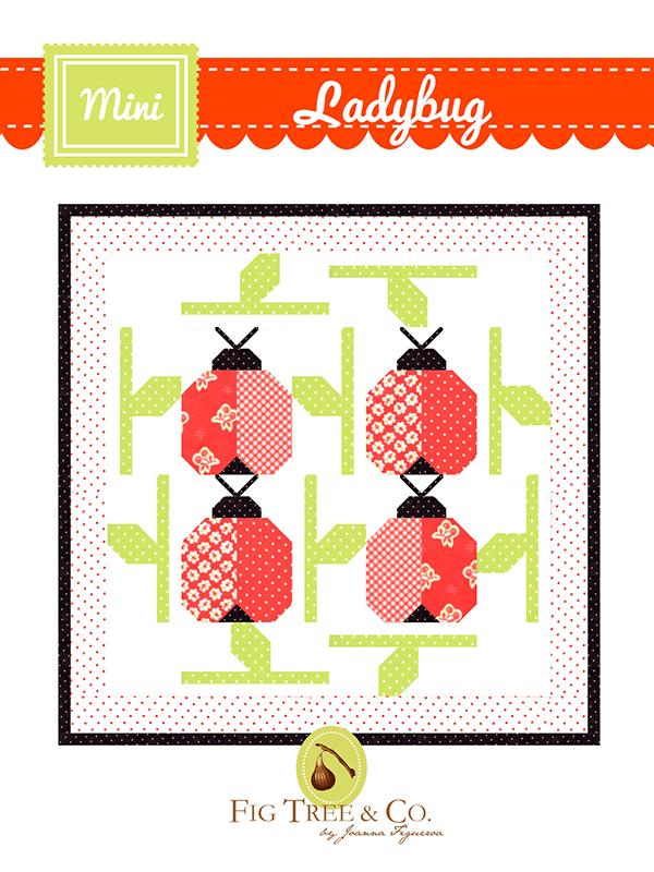 Mini Ladybug Quilt Pattern - 21 x 21