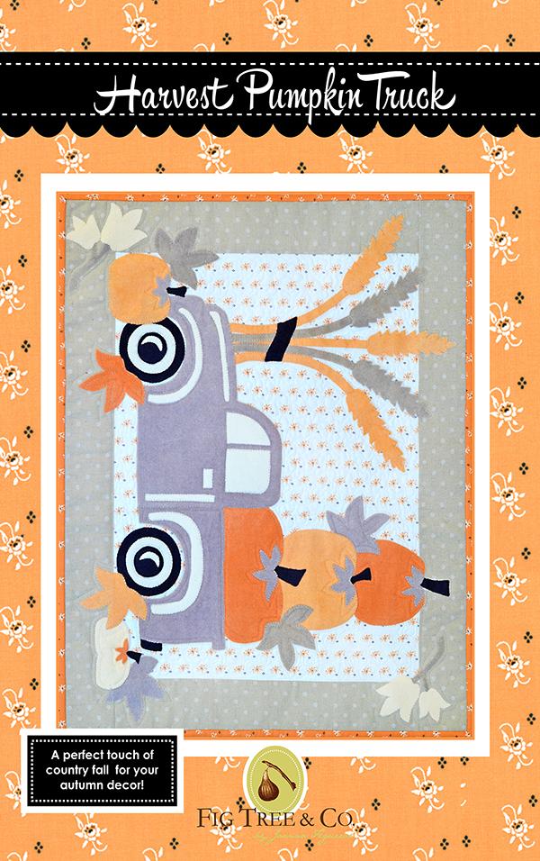 Harvest Pumpkin Truck Quilt Pattern - 20 1/2 x 25 1/2