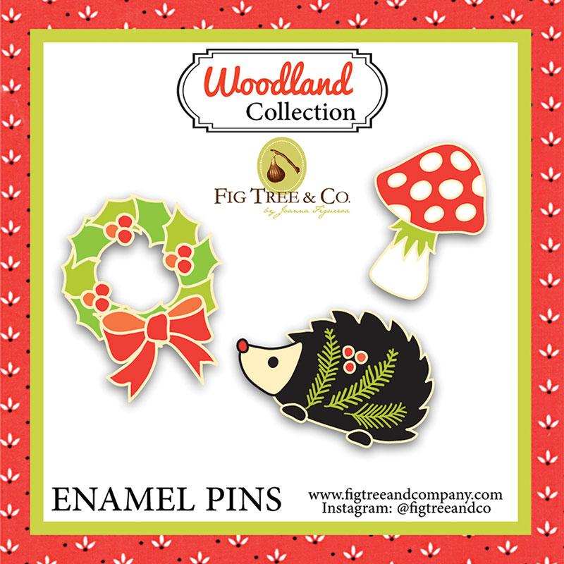 Enamel Pins Woodland Wonderland Christmas