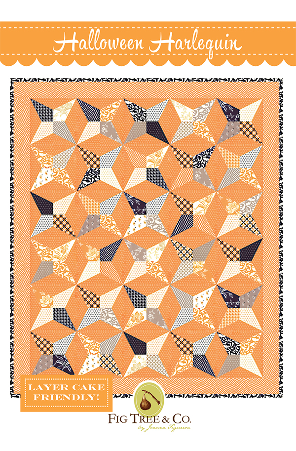 Halloween Harlequin Pattern