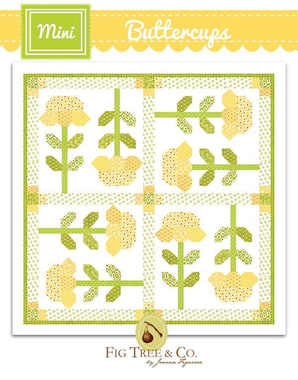 Mini Buttercups Quilt Pattern - 33 x 33