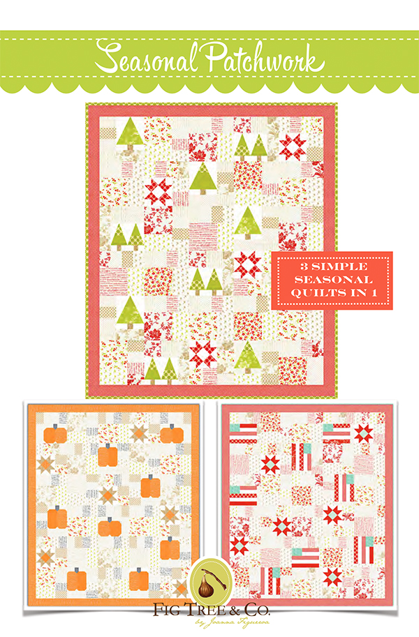 Seasonal Patchwork Quilt Pattern by Fig Tree Quilts