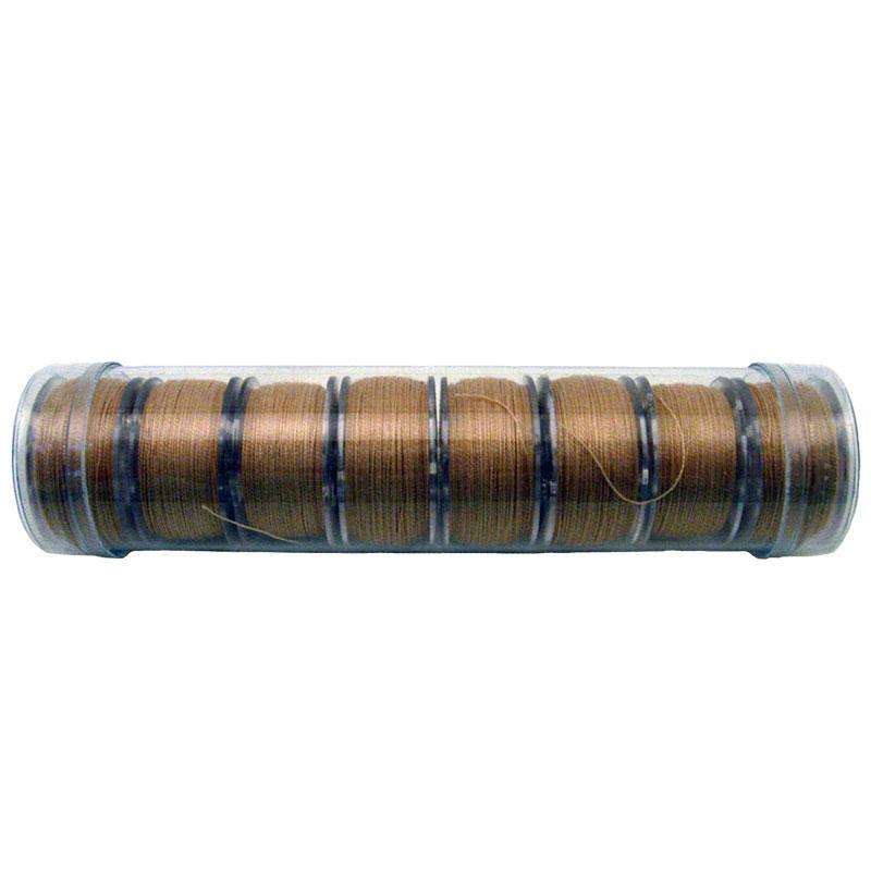 Prewound Bobbin Fil-Tec 15 Class Cotton Tan, 8ct