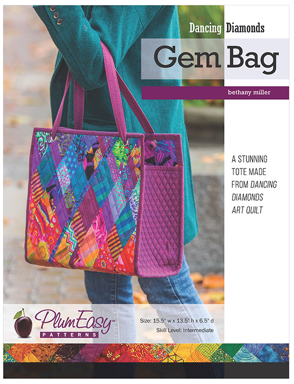 Plum Easy Patterns; Dancing Diamonds Gem Bag pattern - copy