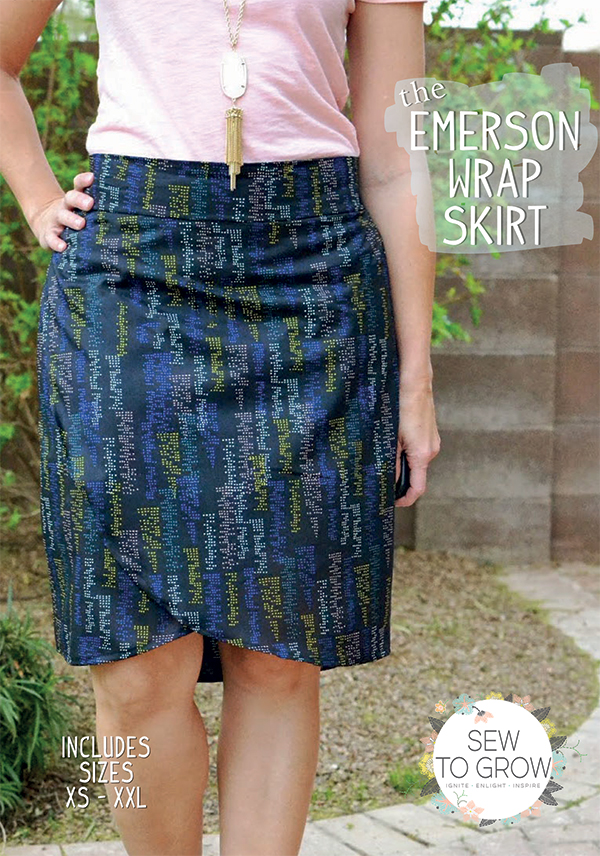 Emerson Wrap Skirt by Sew To Grow
