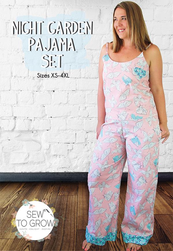 Night Garden Pajama Set<br/>Sew To Grow