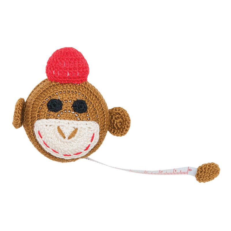 Crocheted Tape Measure Monkey