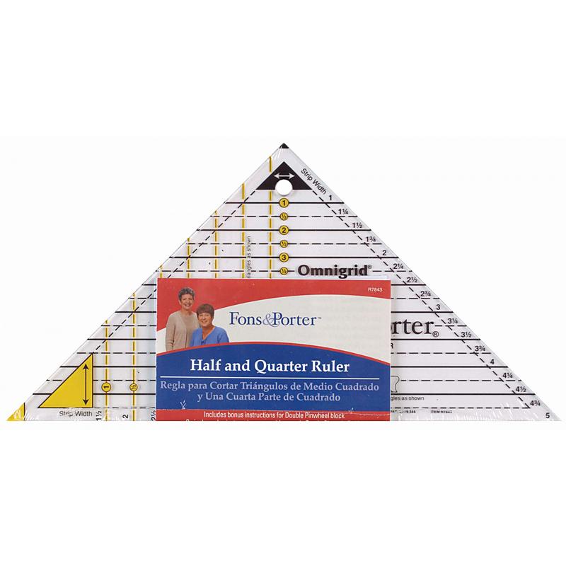 Half and Quarter Ruler