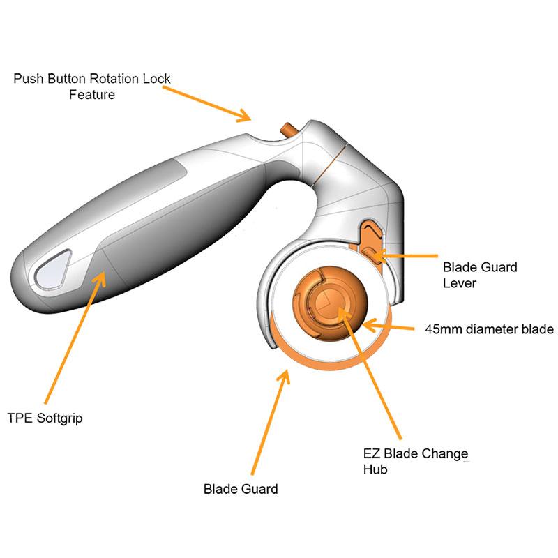 Adjust Handle Rotary Cutr 45mm