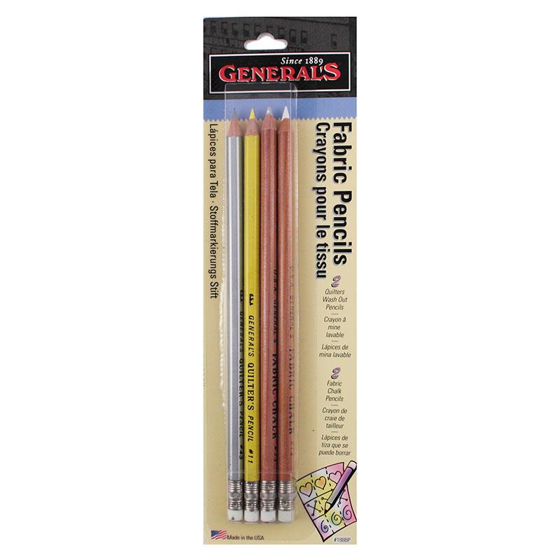 Generals Fabric Pencils-4 pk