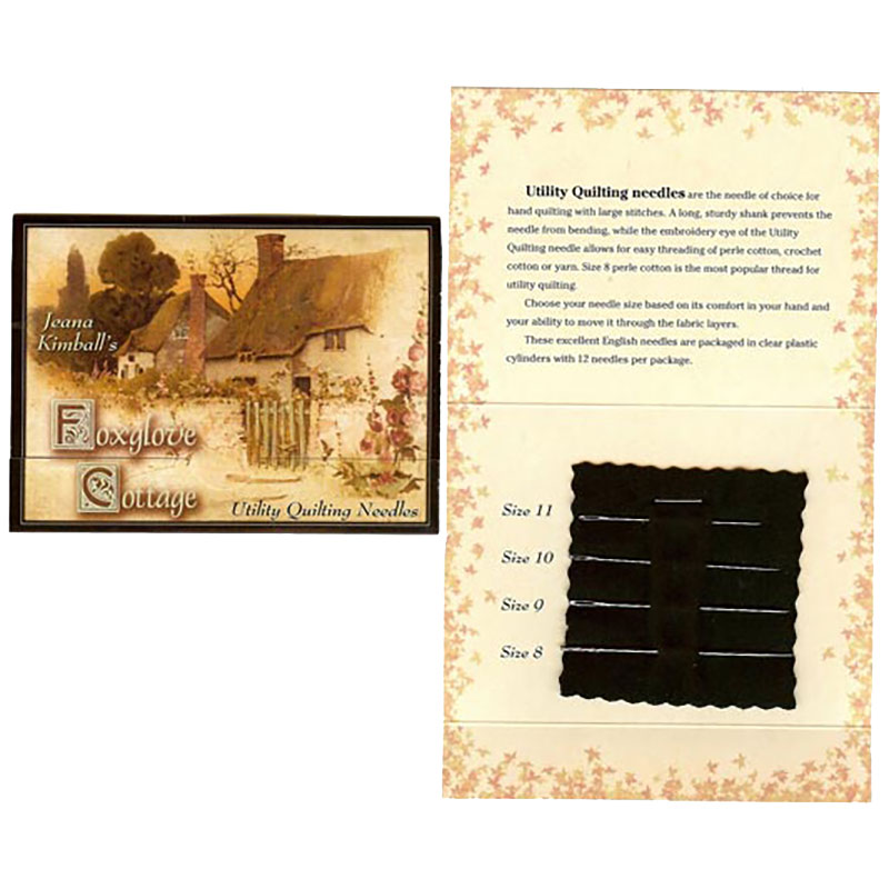 Jeana Kimball's Foxglove Cottage Needle Card Quilting Utility Needles