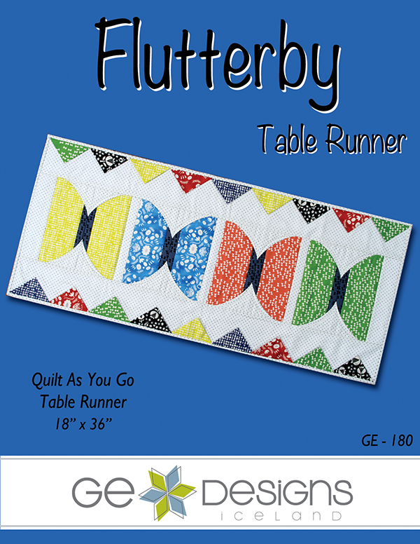GE Designs Flutterby Quilt As You Go Table Runner Pattern