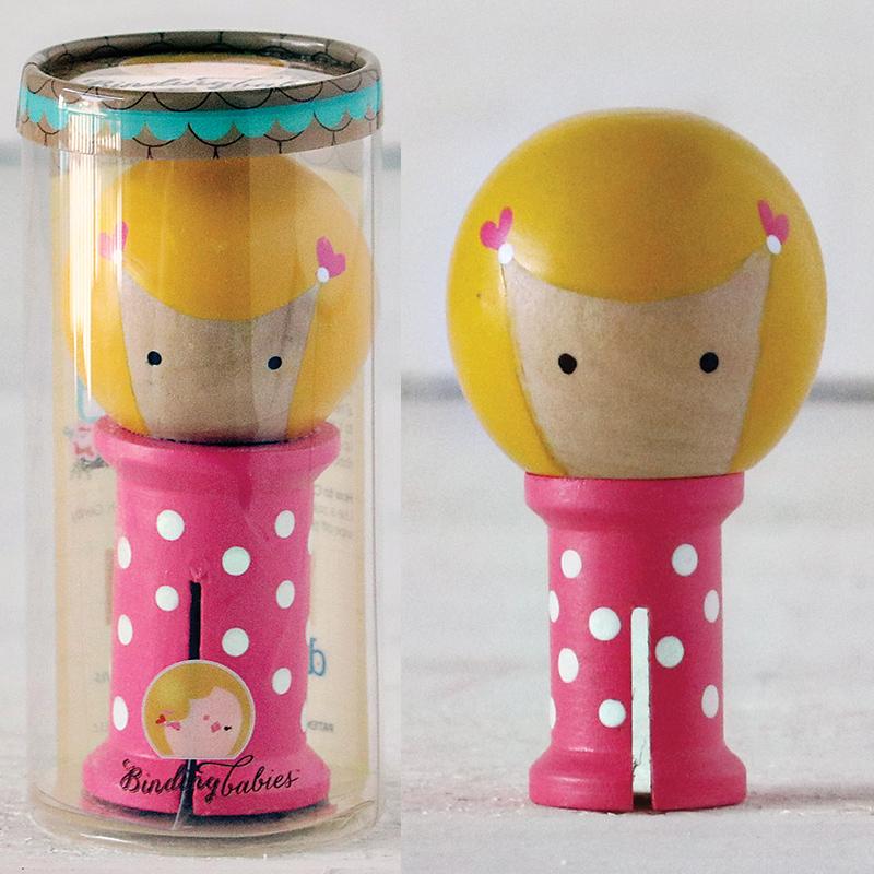 Binding Babies Mini H Pink/Wht