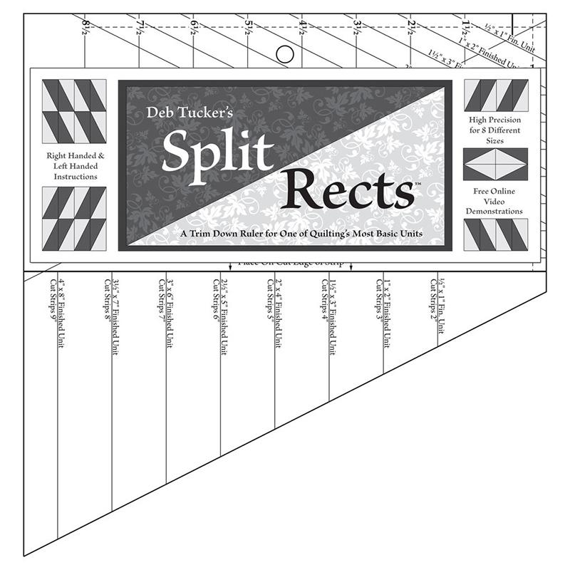 Studio 180 Split Rects Ruler - UDT13 - 7 x 11