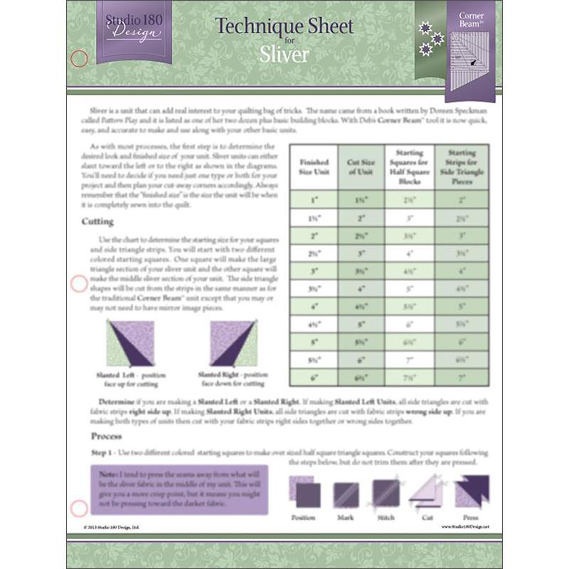 Tech Sheet Sliver