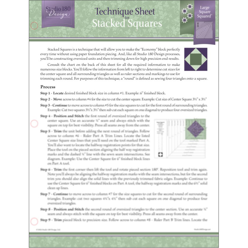 Tech Sheet: Stacked Squares