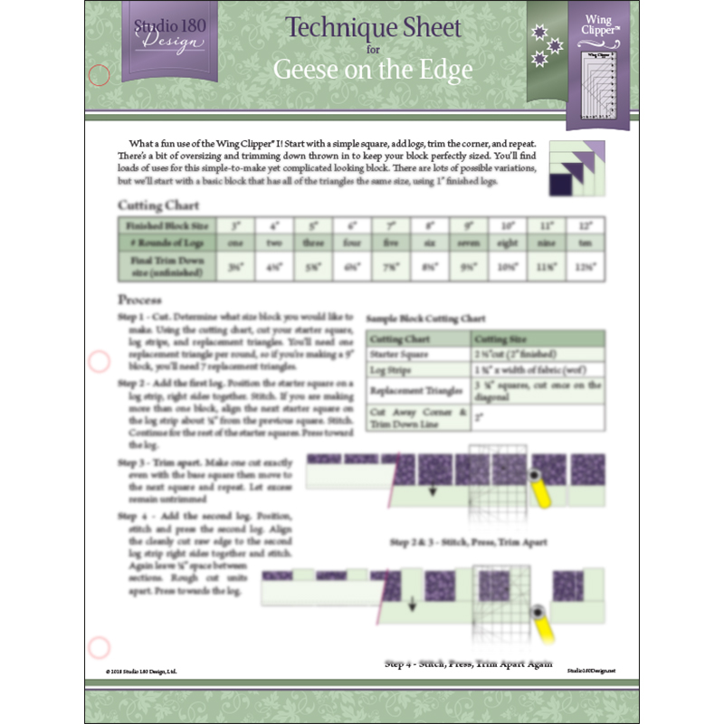 Tech Sheet Geese On The Edge