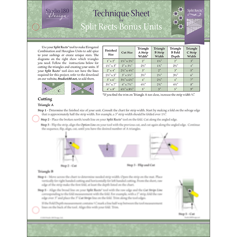 Split Rects Bonus Technique Sheet - Deb Tucker - Studio 180 Design