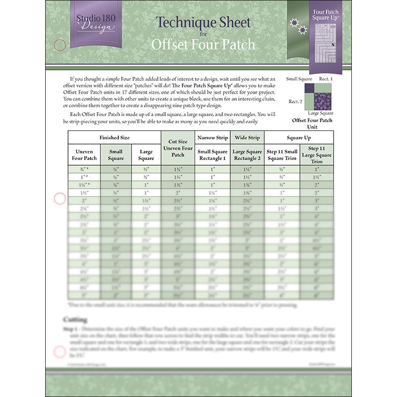 Tech Sheet: Offset Four Patch