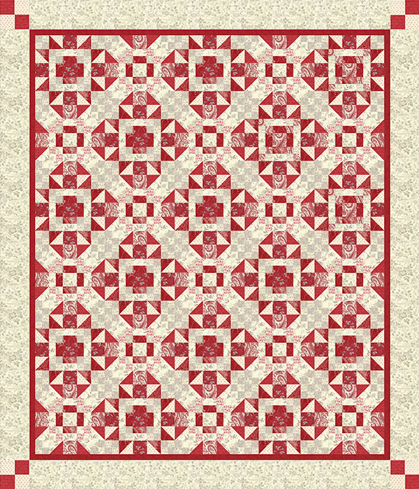 Hidden Gems Quilt Kit 72x87 (Includes backing fabric & pattern)