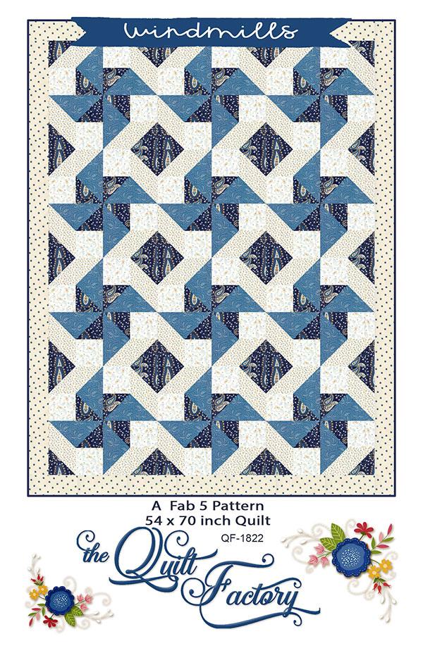 Fab 5 Windmills quilt pattern