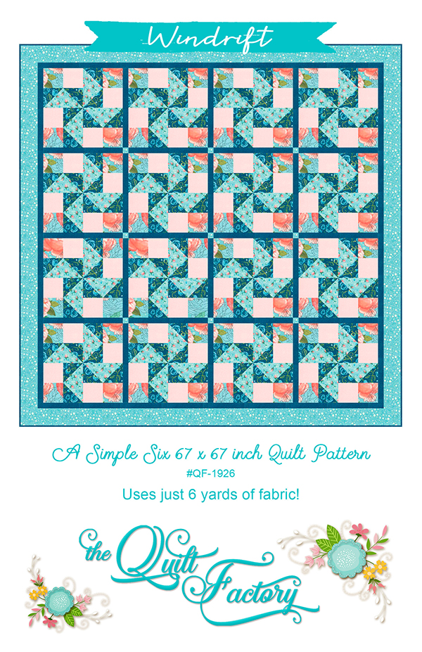 Abby Rose Windrift Pattern designed by The Quilt Factory, 67 x 67