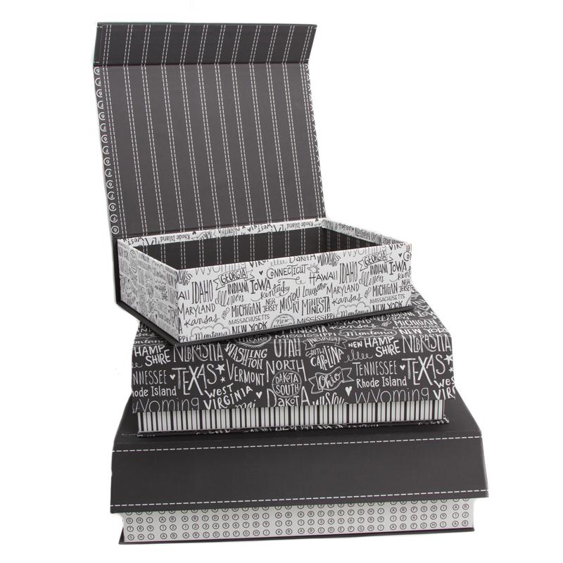 Basic Grey Nested Boxes Metropolis Set 3
