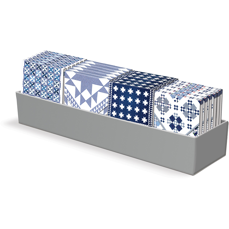 Blue and White Assorted Notepads