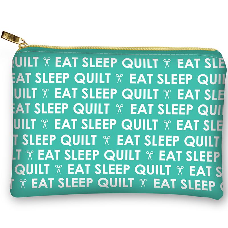 Glam Bag Eat Sleep Quilt Aqua