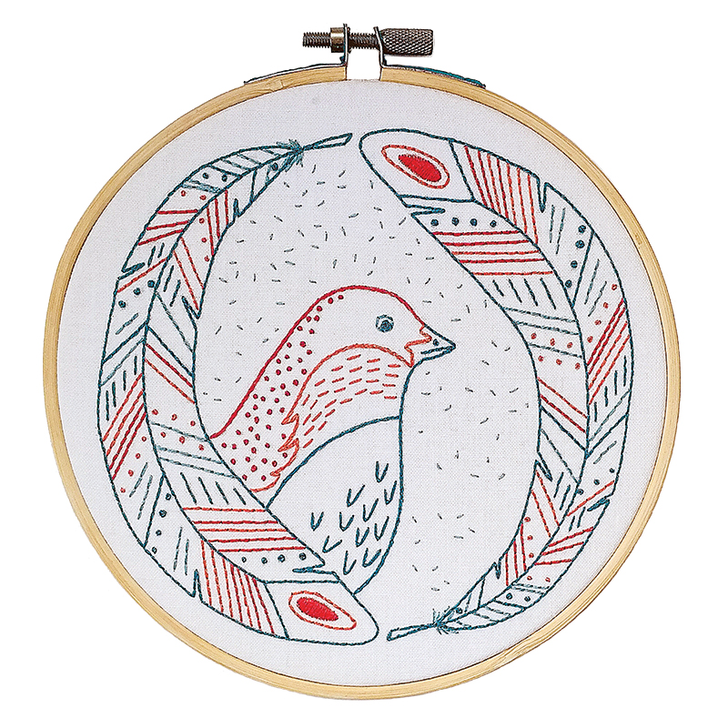 Cozy Blue Embroidery Kit Bird Of A Feather