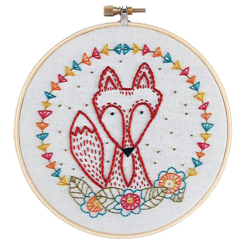 Kit - Embroidery - Crafty Fox
