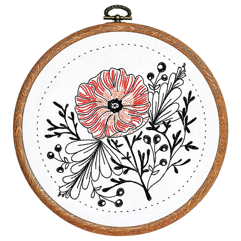 Embroidery Kit Poppy Power