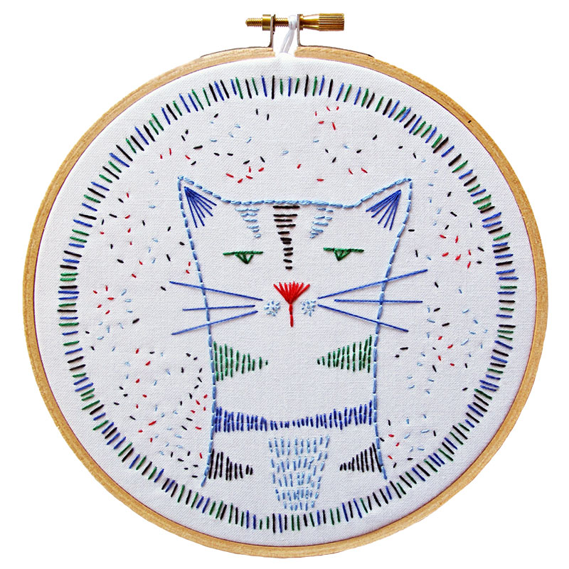 Embroidery Kit Nigel Nine Lives