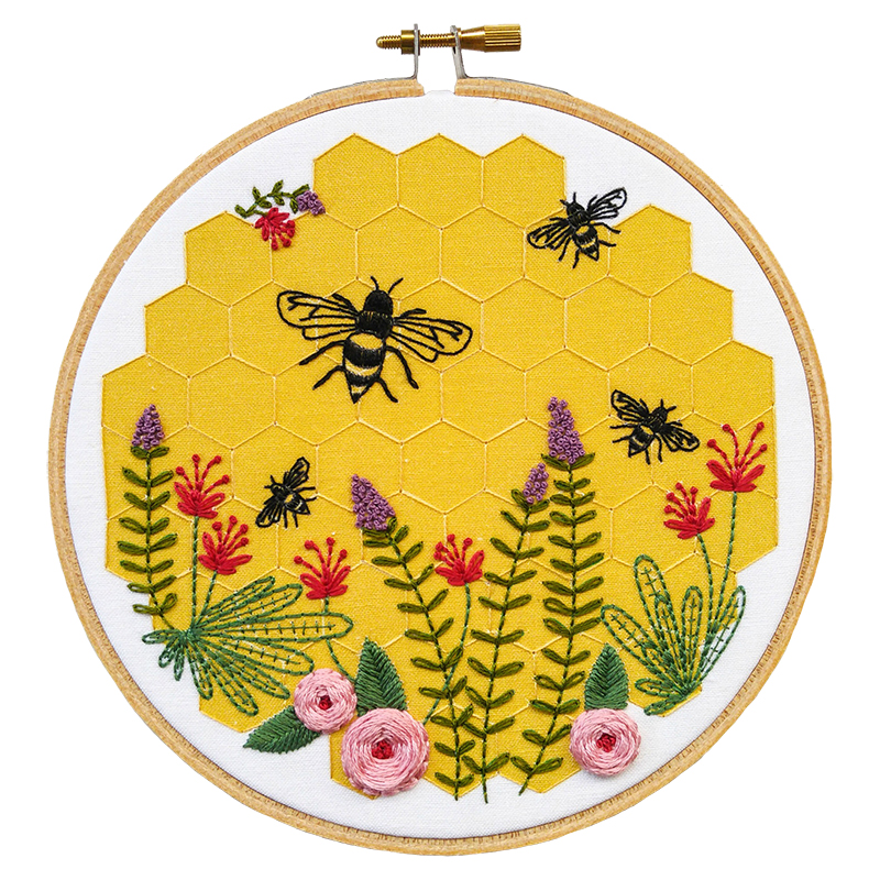 Embroidery Kit Bee Lovely
