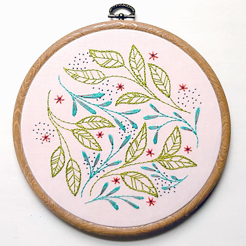 Leaf Dance Embroidery Kit