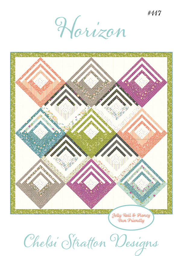 Balboa Horizon Jelly Roll & Honey Bun Pattern, 72 x 72 designed by Sherri & Chelsi