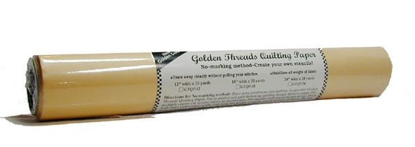 Gold Quilting Paper 12x20yd