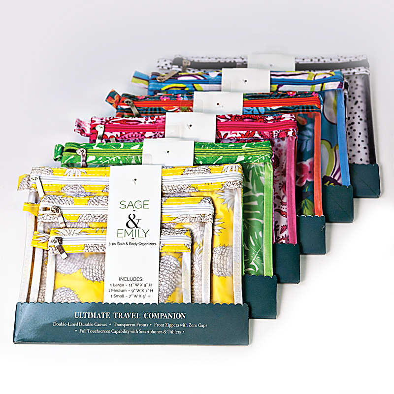 Sage & Emily Organizer Set - Includes 3 Zippered Pouches