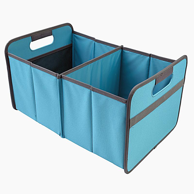 Foldable Box Large Azure Blue