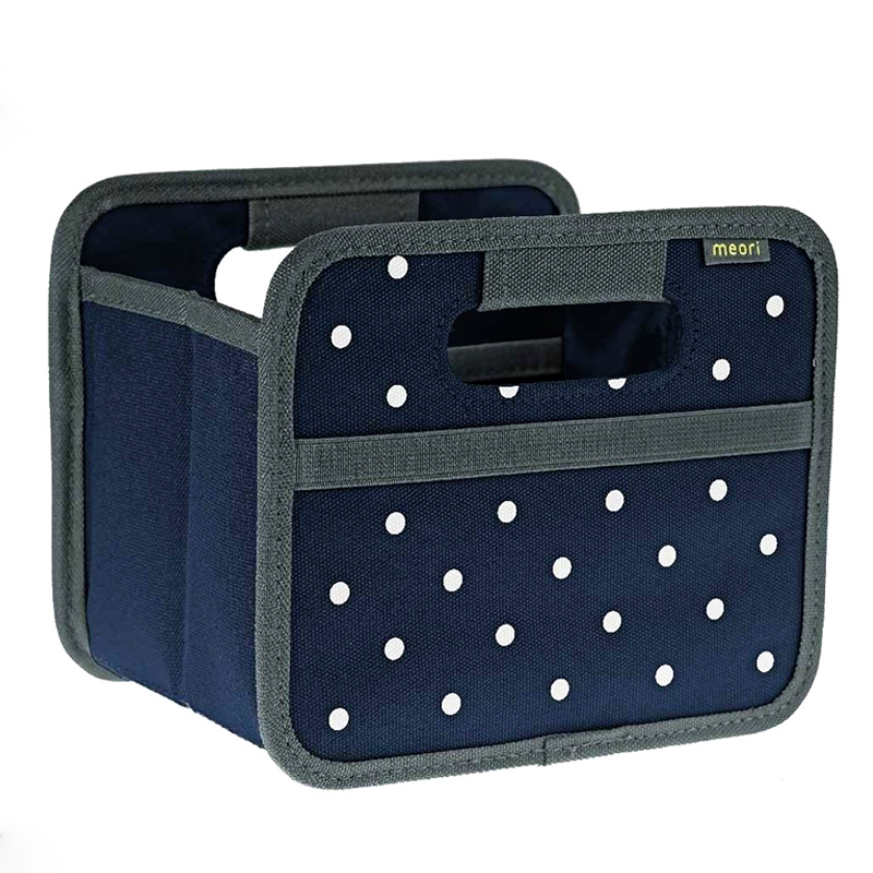 Meori Foldable Box Mini - Marine Blue/Dots