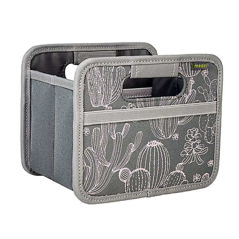 Meori Foldable Box Mini Grey w/Cactus A100532