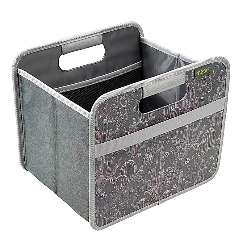 Foldable Box Small Gry w/Cactus