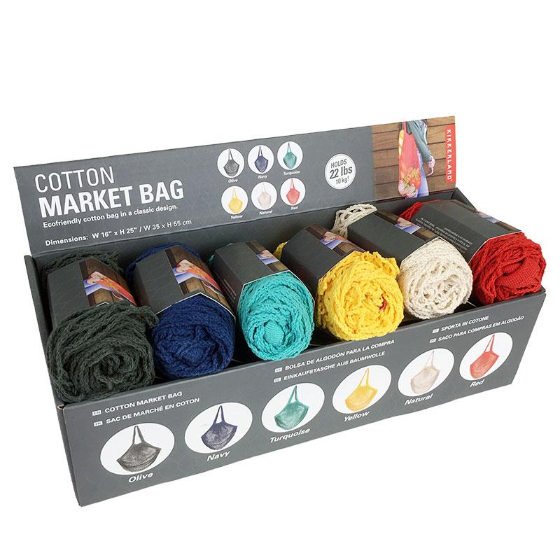 Cotton Market Bag Asst Colors