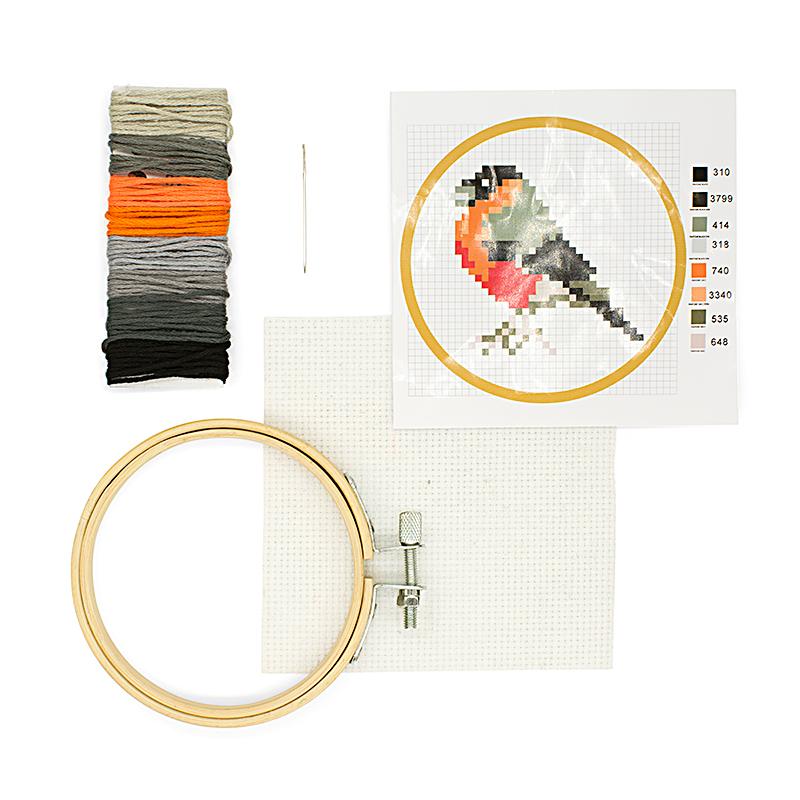 Cross Stitch Embroidery Kit Bird