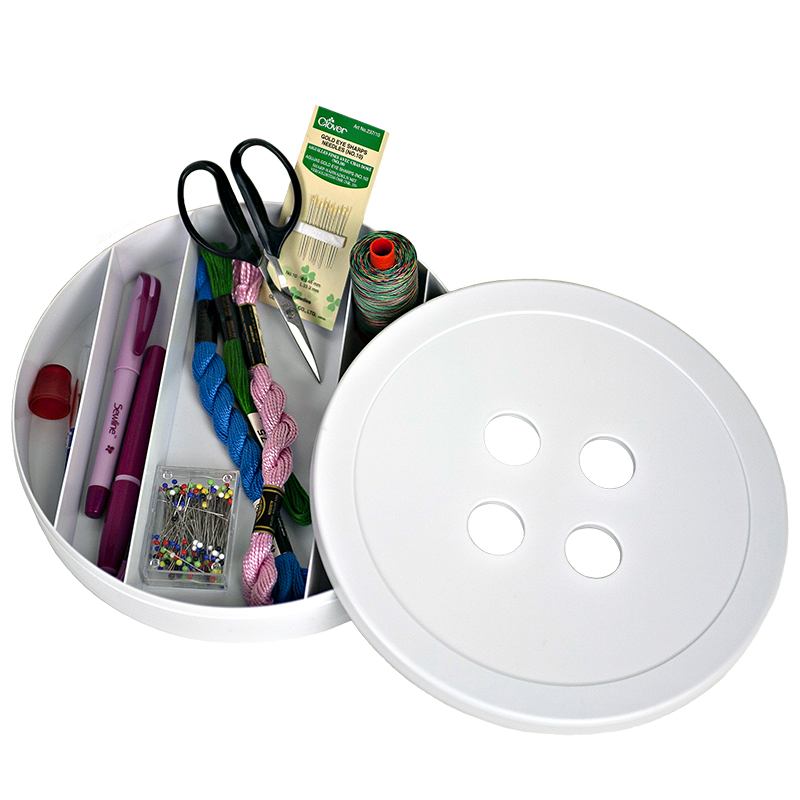 Betsy Button Box White